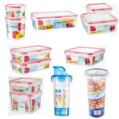 CLIP LOCK Food Storage Containers Plastic Boxes Fresh Tall