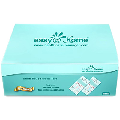 New 25 Pack Easy@home Marijuana (thc) Single Panel Drug Tests Kit - 25 Tests