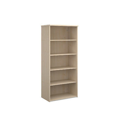 Universal bookcase 1790mm high with 4 shelves - maple