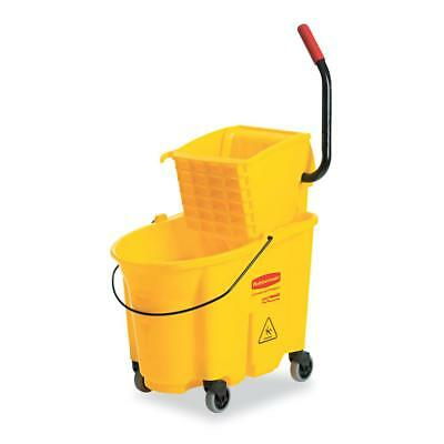 Rubbermaid Commercial Wavebrake 26 Quart Side Press Mop Bucket & Wringer...