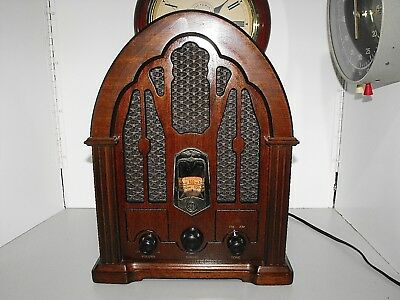 Art Deco Style General Electric Cathedral Radio Reproduction Classic EA7-4100JA
