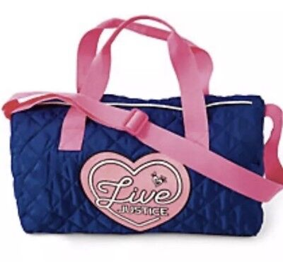 Justice S Duffle Duffel Bag Travel Pink Blue Dance Gymnastics Sports Luggage