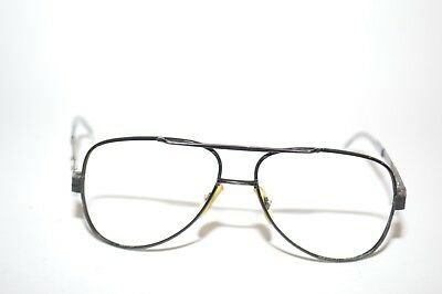 f4901fb3b2 Vintage ClearView CV58 Aviator Sunglass Eyeglass Frames 5 3 4 Black