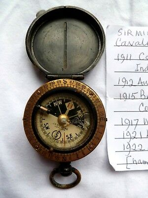 "1911-22 BRITISH ARMY ""CAVALRY SCHOOL COMPASS"" BRASS SENIOR WWI OFFICER Decorated"