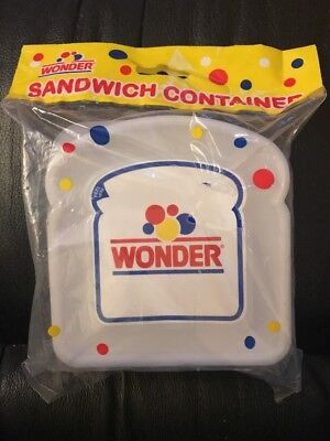 New Unopened Wonder Bread Sandwhich Container (Hole In Package)