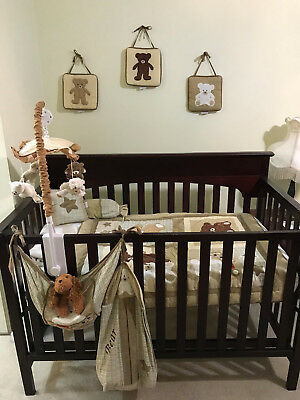 Graco 4-in-1 Wooden Dark Brown Convertible Baby Crib: LOCAL PICKUP ONLY