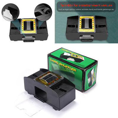 Automatic Playing Card Poker Shuffler Toy For 2 Decks Machine Battery Operated
