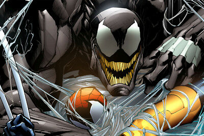 "Spider man Venom Comic Movie 36"" x 24"" Large Wall Poster Print Fan Art"