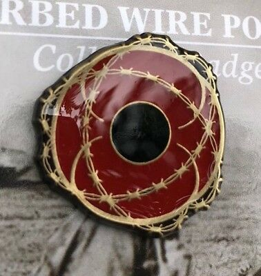 Barbed Wire Poppy Collector Lapel Pin *Remembrance Day  * ANZAC Day*NEW