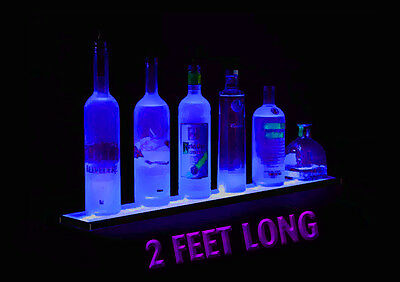 (X4 LOT OF 4 each)2' LED LIGHTED LIQUOR BOTTLE DISPLAY MULTI FUNCTION CONTROL