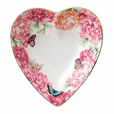 New JUST IN! Miranda Kerr for Royal Albert  Gratitude Heart Tray 13cm -low price