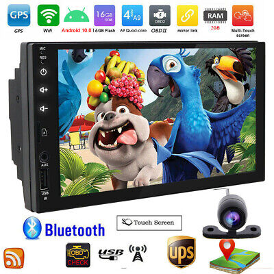 """7"""" Smart Android 8.1 WiFi Double 2DIN Car Radio Stereo Player GPS Navigation SD"""