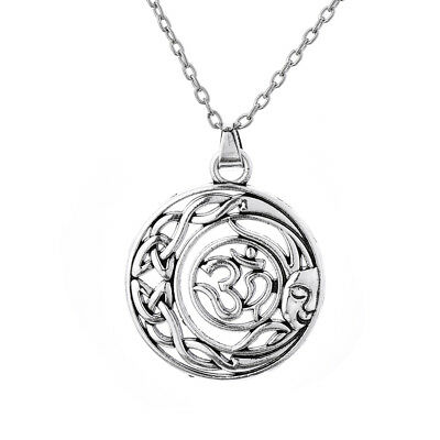 Ancient Celtic Knot Om Hindu Yoga Mandala Ganesha Sun Moon Amulet Charm Necklace