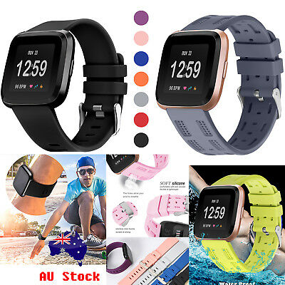 Small Large Replacement Silicone Gel Wrist Band Strap For Fitbit Versa Wristband