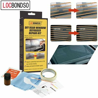 LOCBONDSO DIY Car Repair Tool Rear Window Defogger Grid Lines Tabs Repair Kit