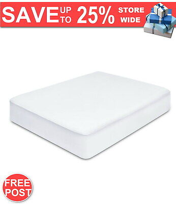 Waterproof Bamboo Mattress Protector - King Single FAST & FREE POSTAGE WARRANTY