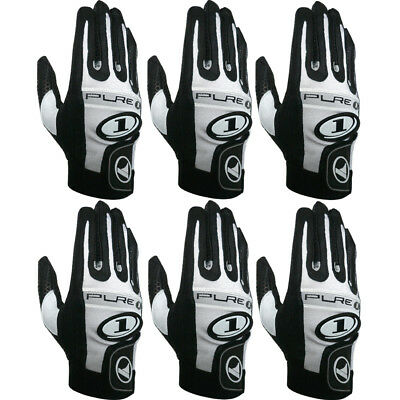 6 gloves ProKennex Pure 1 Black right hand LARGE racquetball glove Six pack
