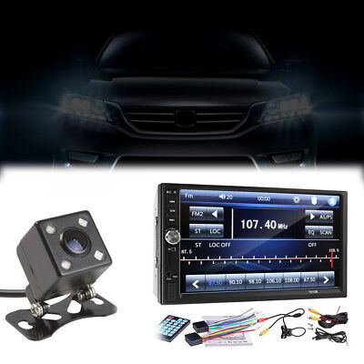 7inch 2DIN MP5 Player Bluetooth Touch Screen  Stereo Radio HD Rear Camera New