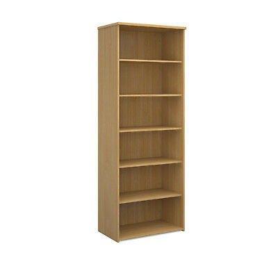 Universal bookcase 2140mm high with 4 shelves - oak