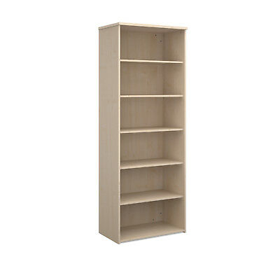 Universal bookcase 2140mm high with 4 shelves - maple