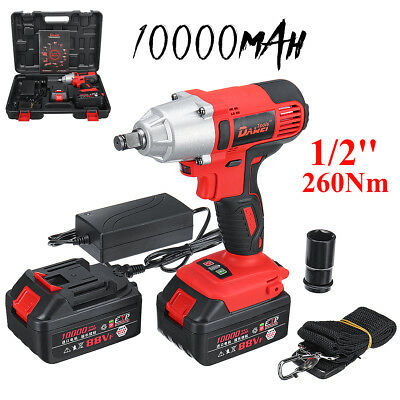 DaWei 2 Li-ion Battery 21V Brushless Cordless 1/2'' 10Ah Impact Wrench Charger