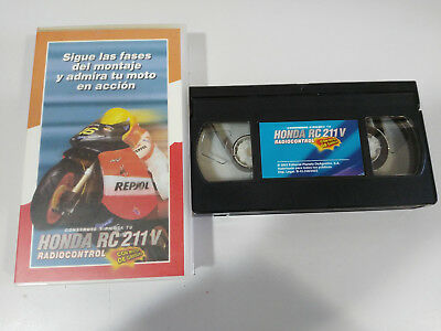 Builds And Pilots Your Honda Rc 211 V Radio Control Vhs Tape Spanish