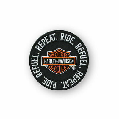 """Harley-Davidson Patch - Round """" Repeat Refuel Ride """" Small em279661"""