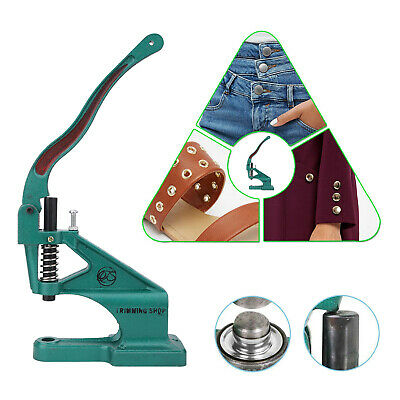 Universal Green Hand Press Machine for Install Eyelets Rivets DIY Craft Clothing