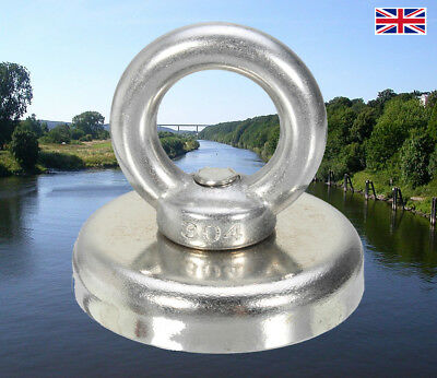 80KG Neodymium Recovery Magnet D48mm Lifting Hold Search Fishing Salvage Heavy