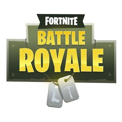 A5 FORTNITE BATTLE Royale Logo ICING Edible Cake Topper x 2 - EUR 3 ... 258d53d40ecf