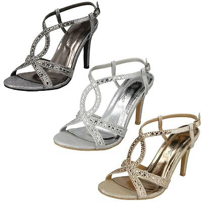3372155dfb0f Ladies Anne Michelle Jewelled Strappy Sandals