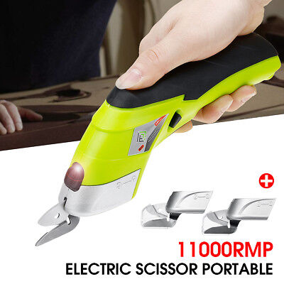 Electric Scissor Potable Auto Cutter Cordless + 2 Blades Simplicity Household AU