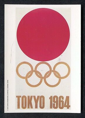 c1970s Collectors Card: Issued by Mars: Poster 1964 Tokyo Olympics