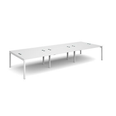 Connex triple back to back desks 1600mm deep - White - 4200 - White