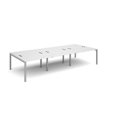 Connex triple back to back desks 1600mm deep - White - 3600 - Silver