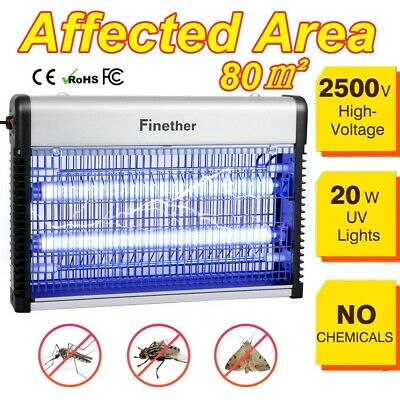 Mosquito Killer UV Lamp Insect Fly Pest Bug Zapper Catcher Trap w/ Hanging Chain