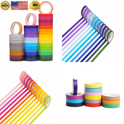 40 Tape Set, Decorative Masking DIY Tapes for Children and Gifts Warpping