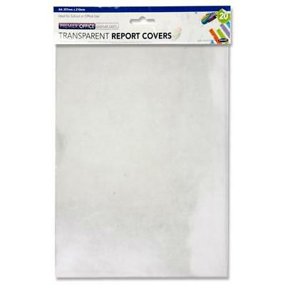 A4 Clear Acetate Sheets  150micron Binding Front Covers (Pack of 20)