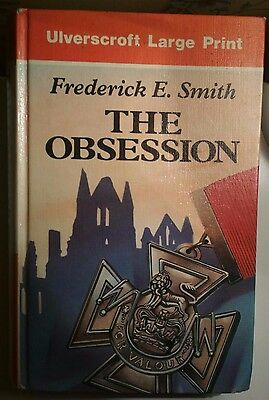 LARGE PRINT The Obsession by Frederick E. Smith 1st LP Edition 1992 Clean Copy