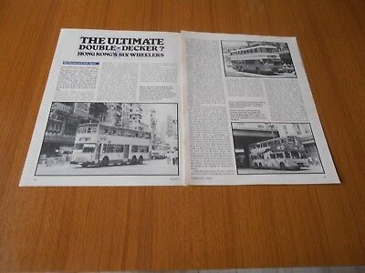 1983 Hong Kong Double Decker Buses Kowloon Motor Bus Dennis Dragon Condor Mcw
