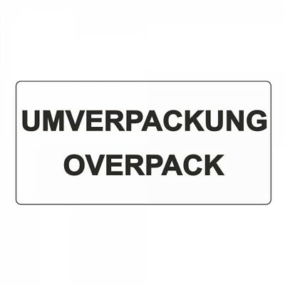 Outer Packaging Overpack - Sticker/Labels - White - 100 x 50 mm - 500 Piece
