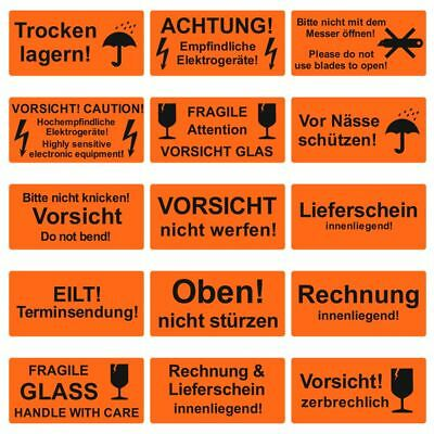 Warning Labels Sticker - 30 Various Types 100x50 Mm