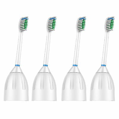 4 Pack Replacement Brush Heads for Philips Sonicare E series Toothbrush HX7002