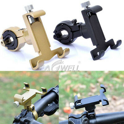Bike Bicycle Motorcycle Handlebar CELL Phone Stand Bracket Aluminum Mount Holder