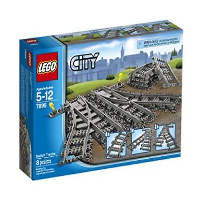 Building Toy Lego City Trains 7895 Switch Tracks US SELLER New