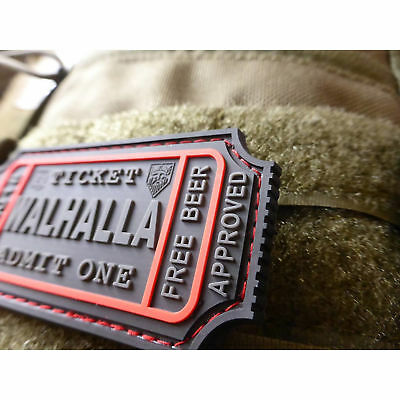WALHALLA TICKET - Odin approved, blackops 3D Rubber Patch