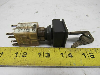 Schlegel AT2 250V Maintained Contact Keyed Switch Plug In Module