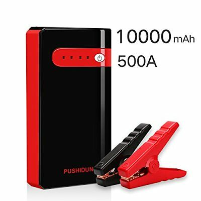 Jump Starter 10000mAh 500A Peak Battery Booster Start Gas and Motorcycles With U