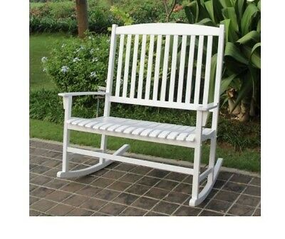 Outdoor Rocking Chair Patio Furniture Double 2 Bench Glider