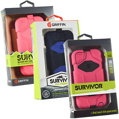 Genuine Griffin Survivor iPod Touch Rugged Case Screen Cover For 5th & 6th Gen